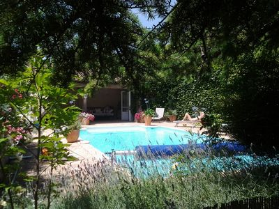 Photo for 2 bedroom apartment with pool, in an old wine domaine