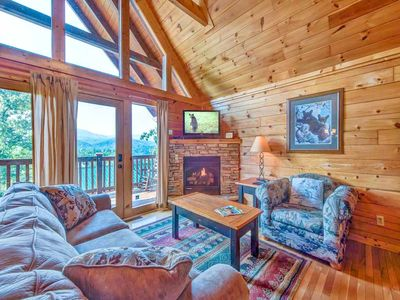 Photo for Fireside View, 2 Bedrooms, Sleeps 8, Hot Tub, Pool Access, Mtn Views