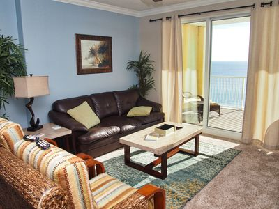 Photo for Gorgeous Gulf Front 2/2 At Ocean Reef With Huge Balcony & Free Beach Service!