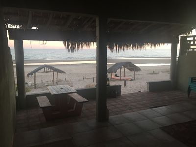View from the covered patio