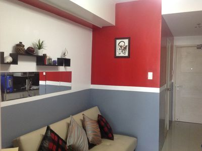Photo for 1 Bedroom with balcony, fully furnished condo, walking distance to Mall of Asia