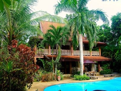 Photo for Beautiful Villa, 4 Bedrooms, Swimming Pool, Large Private Tropical Gardens