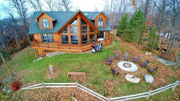 * Lakefront Log Home Retreat * Big Sandy Lake