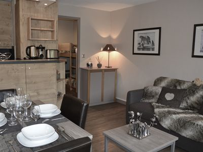 Photo for Charming - a room and a cabin with a balcony in the heart of Meribel ski station