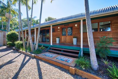 Enjoy soothing ocean breezes from the elevated position of the Beach house
