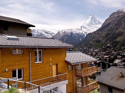 Photo for An elevated, duplex, 4 bedroom apartment with Matterhorn Views