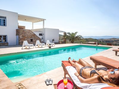 Photo for Kea Villa Thea & Petra House With Private Pool And Amazing Seaview