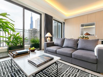 Photo for Luxury Penthouse with Balcony Stunning View, Free Gym & Pool