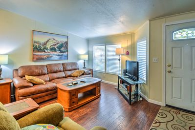 The 3-bedroom, 2-bathroom home has room for 6 guests.