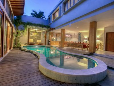 "Photo for Tropical Holiday 4 Bedroom Villa ""Eat Street"", Seminyak;"