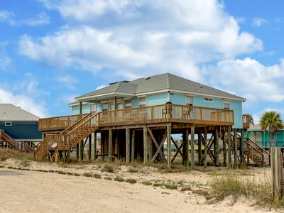 Photo for 3 Bedroom Gulf of Mexico Beach House with Crows Nest, Right on the Beach