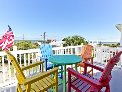 Photo for Great Water and Lighthouse Views, Lots of Deck/Porch Space, Pet Friendly with Fenced Yard
