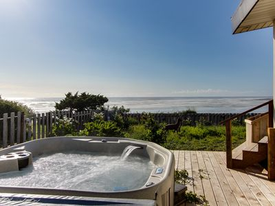 Photo for Dog-friendly, oceanfront house w/ private hot tub & beach access