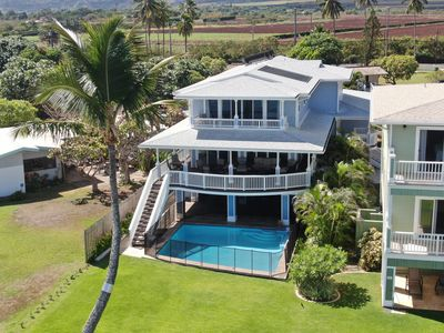 Photo for Oceanfront Estate w/Pool & White Sand Beach & Whale Watching