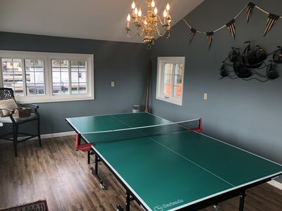 Ping Pong game room above boathouse