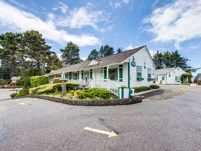 Photo for NEW LISTING! Cozy motel studio in a quiet setting near ocean/downtown, dogs OK!