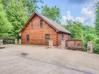 Photo for Gorgeous Log Getaway Nestled in Cove Hollow