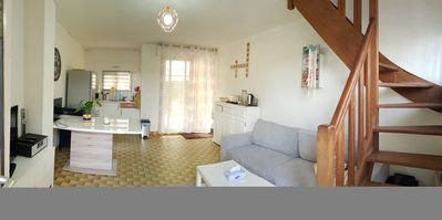 Photo for 3-room house with garden 200 m from the sandy beach.