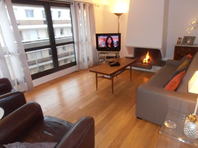 New apartment 600 m from paris with garage homeaway for Garage paris 16