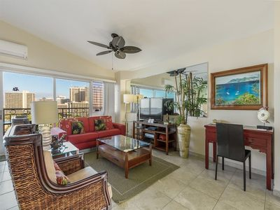 Photo for Families Love the View and Fun Decor! Free WiFi, Full Kitchen–Waikiki Shore  #PH05