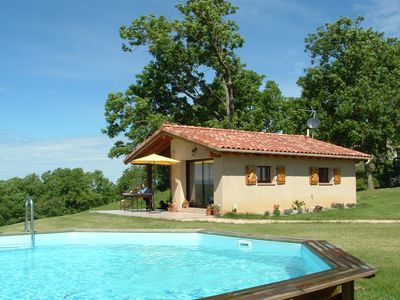 Photo for Peaceful Gite + PRIVATE Pool + Magnificent Panoramic Views in   Rural France .