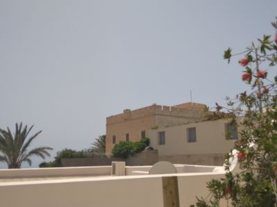 Photo for Peaceful studio with views and just walking distance from Thira town.