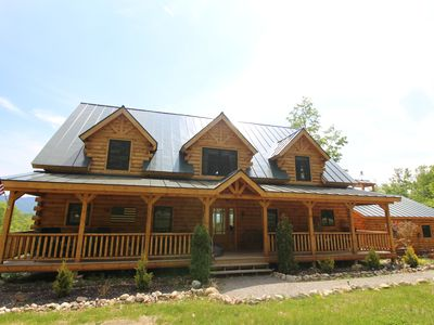 Photo for As seen in Log Home Living Magazine, with 180 degrees of mountain views!