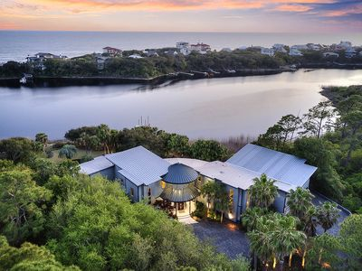 Photo for Lakefront Vacation Home on 30A w/ Gulf Views, Hot Tub, & Pool!