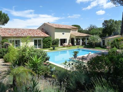Photo for VILLA 250 m² IN THE HEART OF A PINEDE OF 1 HECTARE CLOSURE. POOL 12 X6