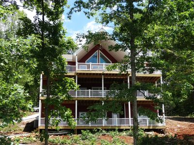 Photo for Eagle's Cove - NEW 9 Br, 11 Ba w 2 Level Dock & Gentle Slope Lot w NO STAIRS