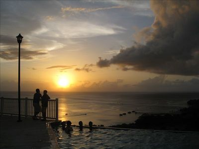 Infinity Pool Sunset View - Crash Boats Beach Below 'The Corner Penthouse'