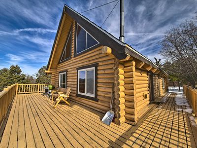Photo for NEW! Big Bear Cabin w/ Wraparound Deck & Game Room