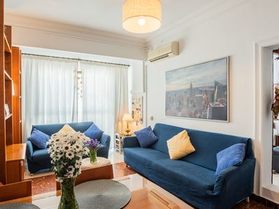 Photo for Central apartment in Seville (Triana - Los Remedios) with WiFi, AC, Parking