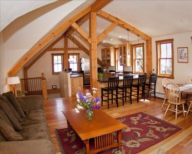 Photo for Beautiful Timber Frame Home In Downtown. Great Location Just off Elk Ave!