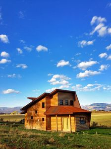 Photo for Private Modern Cabin, Eternal Sunset, 360 Degree Views, Horses/Dogs Welcome