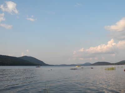Photo for Spectacular Log Lodge w/ Private Setting & Great Views on Piseco Lake