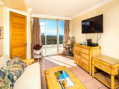 Photo for Great Pacific View+Sundeck Bliss! WiFi, Kitchenette Ease, TV, AC–Waikiki Grand 1009