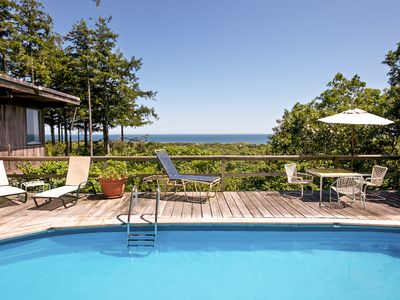 Photo for Iconic mid-century home with gorgeous ocean views, private pool and decks!