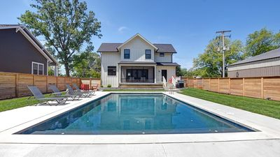 Photo for Ideal location, saltwater pool, luxurious pool lounge, walk to Lake Michigan