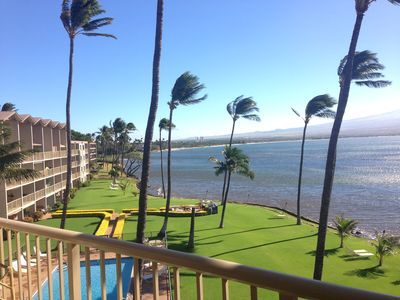 Photo for Maui Last Min SAVINGS Prime Ocean Front Central A/C *Maalaea Kai 403*