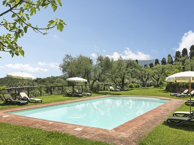 Photo for House CastorePolluce in stunning property with pool on Lucca hills