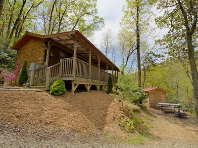 Photo for Red Barn - Cozy cabin for 2, easy drive to town, perfect getaway! Includes Biltmore & more!