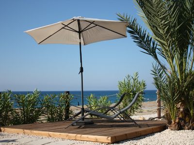 Photo for Truly Beachfront Villa in Latchi&WiFi! Ideal for romantic couples and families!