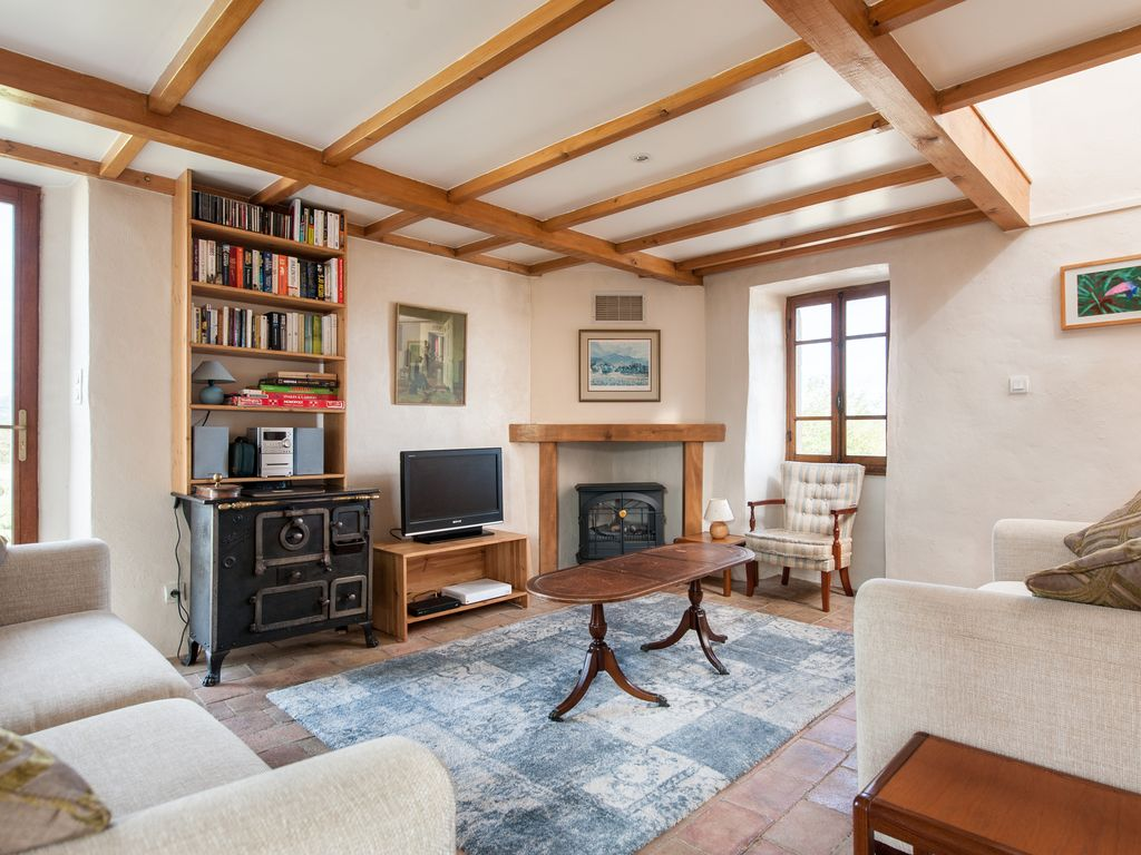 Lablachère Barn Al Gites Marston La Magnanerie Cosy Open Plan Living Space With