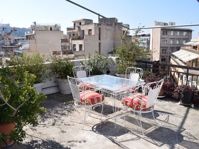 Photo for Trendy Penthouse With Private Balcony and Views of the Acropolis. Sleeps 4.