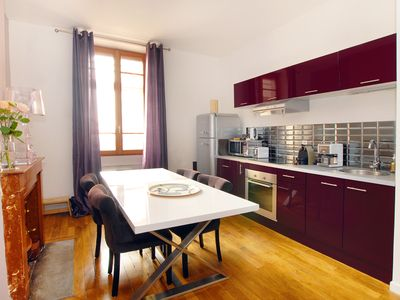Photo for Quiet & bright one BR apt (53 sqm), near Part Dieu