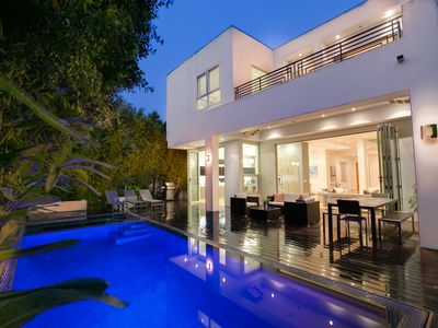 Photo for Seconds Away From the Grove! Giant Private Modern Oasis With Pool and Hot Tub!
