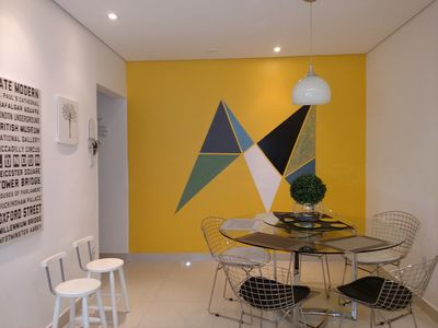 Photo for Comfortable, Garage, Wi-Fi, Air-conditioning, 40 m Aparecida beach, Sesc