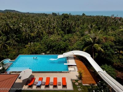 Photo for OCEAN VIEW VILLA - WITH WATERSLIDE !