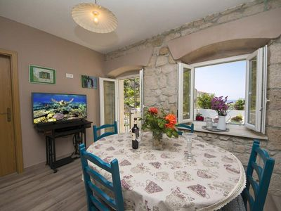 Photo for ctpo275- 1 bedrood apartment, 2+2 persons, with beautiful sea view